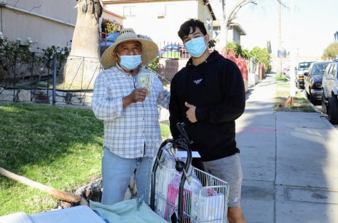 Jesus Moralez, who goes by Juixxe on TikTok, raises donations from followers that he shares with street vendors in Los Angeles. Photo courtesy of Jesus Morales