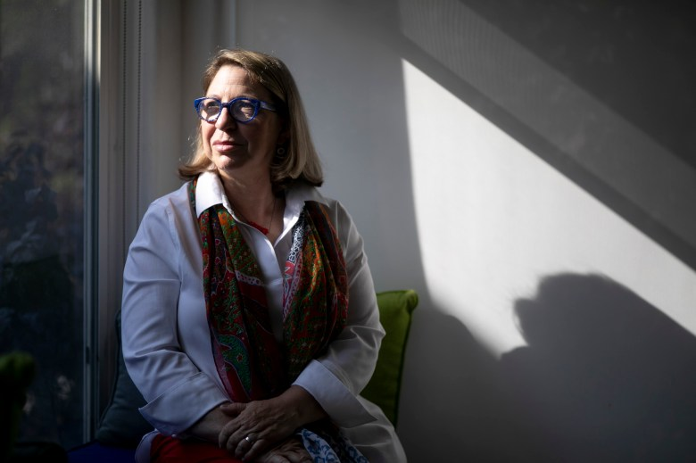 Julia Weber, who works on policy issues for the Giffords Law Center to Prevent Gun Violence, photographed at her home in San Francisco on July 19, 2021. Photo by Anne Wernikoff, CalMatters